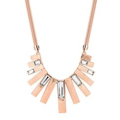 J by Jasper Conran - Designer rose gold crystal stick necklace