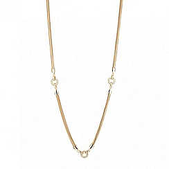 J by Jasper Conran - Designer crystal circle long necklace