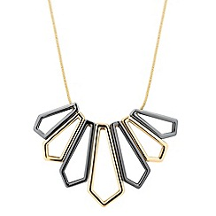 J by Jasper Conran - Designer online exclusive two tone angular drop necklace