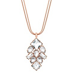 J by Jasper Conran - Designer rose gold mixed stone drop necklace