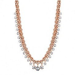 J by Jasper Conran - Designer online exclusive rose gold crystal drop necklace