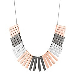 J by Jasper Conran - Designer mixed metal polished stick necklace