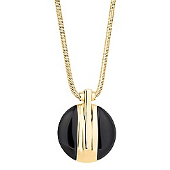 J by Jasper Conran - Designer jet round drop necklace