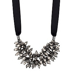 J by Jasper Conran - Designer grey floral beaded double row necklace