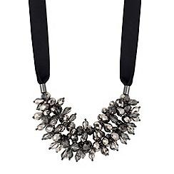 J by Jasper Conran - Designer grey floral beaded double row necklace