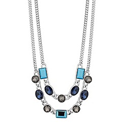 J by Jasper Conran - Designer mixed blue stone double row necklace