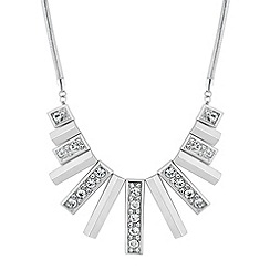 J by Jasper Conran - Designer crystal encased rectangular drop necklace
