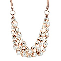 J by Jasper Conran - Designer rose gold triple pearl chain necklace