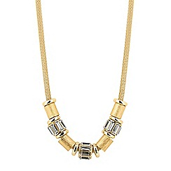 J by Jasper Conran - Designer baguette and textured disc necklace