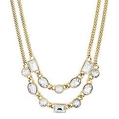 J by Jasper Conran - Designer round and square crystal chain necklace