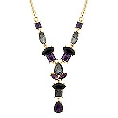J by Jasper Conran - Designer mixed purple y drop necklace