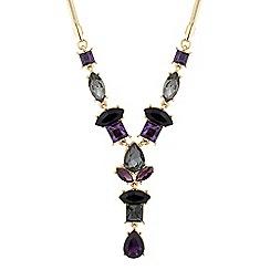 J by Jasper Conran - Designer mixed purple 'Y' drop necklace