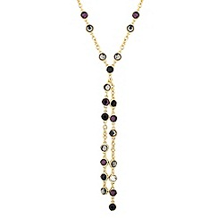 J by Jasper Conran - Designer double sided purple stone drop necklace