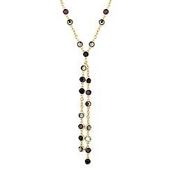 J by Jasper Conran - Designer double sided purple stone drop necklace
