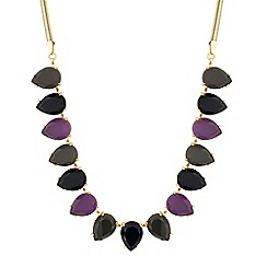 J by Jasper Conran - Designer purple and jet peardrop necklace