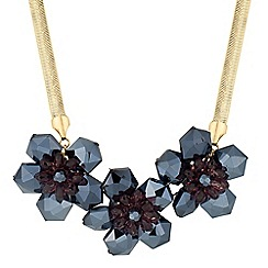 J by Jasper Conran - Designer blue and purple triple flower necklace