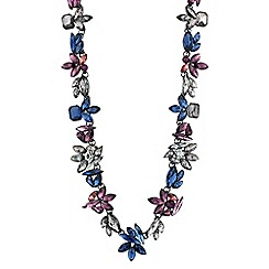 J by Jasper Conran - Designer purple and blue floral link necklace