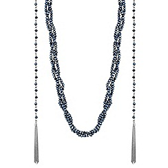 J by Jasper Conran - Designer plaited bead and chain tassel necklace