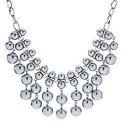 J by Jasper Conran - Designer graduated grey pearl drop necklace
