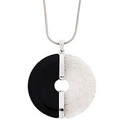 J by Jasper Conran - Designer long circular monochrome pendant necklace