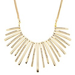 J by Jasper Conran - Designer gold crystal embellished stick necklace