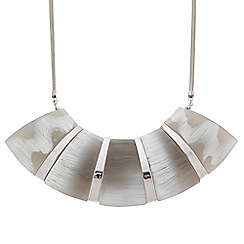 J by Jasper Conran - Designer polished silver and grey panel necklace