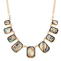 J by Jasper Conran - Designer marbleised square stone necklace