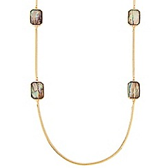 J by Jasper Conran - Designer long marbleised square stone link necklace