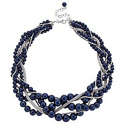 J by Jasper Conran - Designer blue pearl twisted necklace