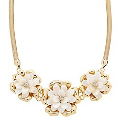 J by Jasper Conran - Designer triple crystal flower necklace