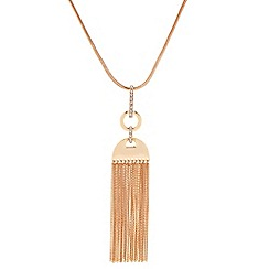 J by Jasper Conran - Polished tassle chain long pendant