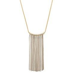 J by Jasper Conran - Designer two tone tube tassel drop necklace