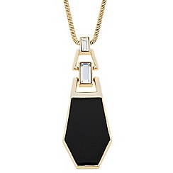 J by Jasper Conran - Designer baguette and enamel drop necklace
