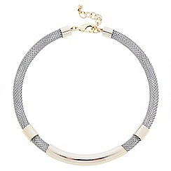 J by Jasper Conran - Designer two tone tubular necklace