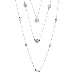 J by Jasper Conran - Designer crystal disc multi row necklace