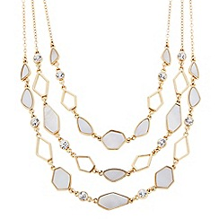 J by Jasper Conran - Designer mother of pearl effect triple row necklace