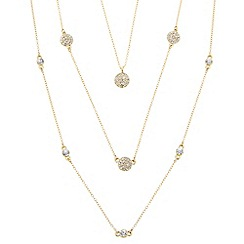 J by Jasper Conran - Designer gold crystal disc multi row necklace