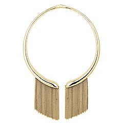 J by Jasper Conran - Designer gold chain drop statement collar necklace