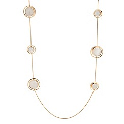 J by Jasper Conran - Designer mother of pearl disc long necklace