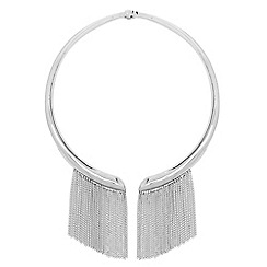 J by Jasper Conran - Designer silver chain drop collar necklace