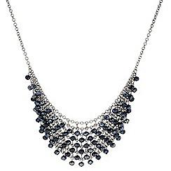 J by Jasper Conran - Designer Blue beaded multi row necklace