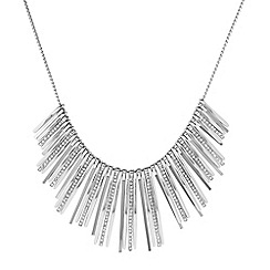 J by Jasper Conran - Designer silver crystal graduated stick necklace