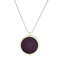 J by Jasper Conran - Designer maroon double circle necklace