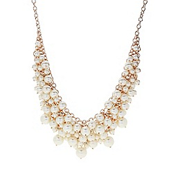 J by Jasper Conran - Designer rose gold pearl and crystal drop necklace