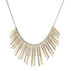 J by Jasper Conran - Designer gold crystal graduated stick necklace