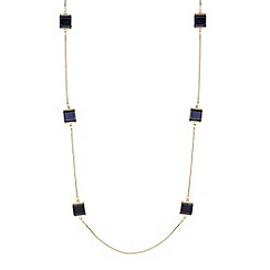 J by Jasper Conran - Designer jet crystal square rope necklace