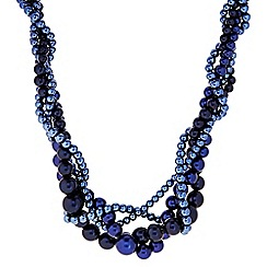 J by Jasper Conran - Designer blue twisted pearl necklace
