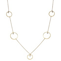 J by Jasper Conran - Designer Gold circle and crystal rope necklace