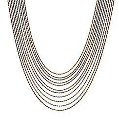 J by Jasper Conran - Designer Two tone multi chain necklace