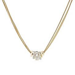 J by Jasper Conran - Designer gold crystal circle rhondel necklace